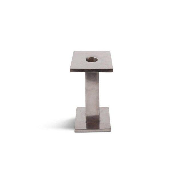 Metal Ettore Sottsass Signed Candlesticks For Sale - Image 7 of 10