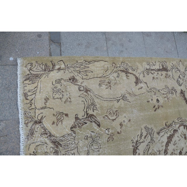 Turkish Oushak Rug - 6′2″ × 9′9″ For Sale In Austin - Image 6 of 6