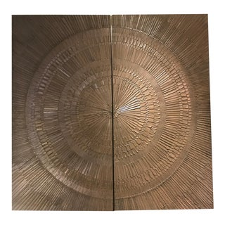 "1960s Forms & Surfaces Bonded Bronze ""Heroic Sunburst"" Architectural Panels"