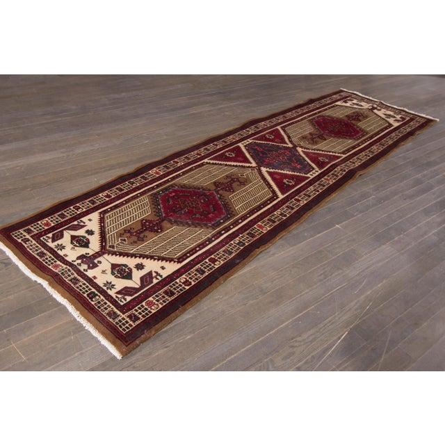 "Traditional Apadana - Vintage Persian Rug, 3'6"" x 11'9"" For Sale - Image 3 of 5"