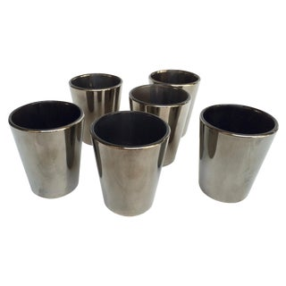 Iridescent Votive Candle Holders - Set of 6 For Sale