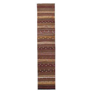Banded Kilim Runner For Sale