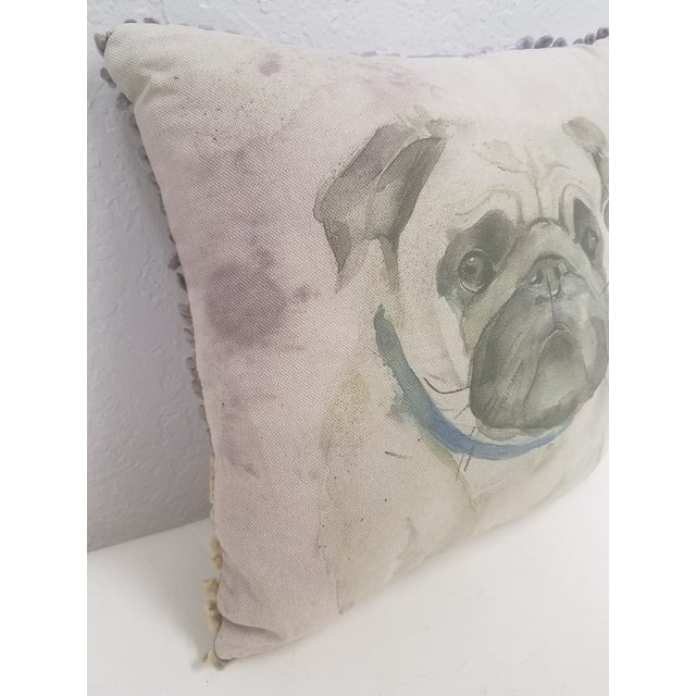 Pug Pillow - Made in Wales, United Kingdom This pillow was made in Wales, U.K., by a small cottage designer/manufacturer...