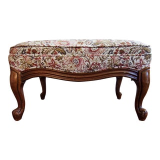 1950s Vintage French Provincial Ottoman For Sale