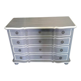 French Country Gray Dresser With Serpentine Front For Sale