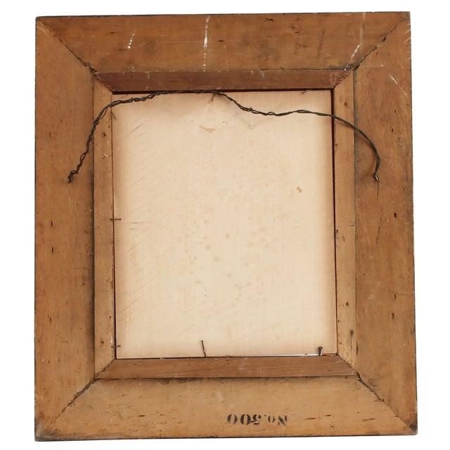 Primitive Original Rare Portrait of White Bear For Sale - Image 3 of 3