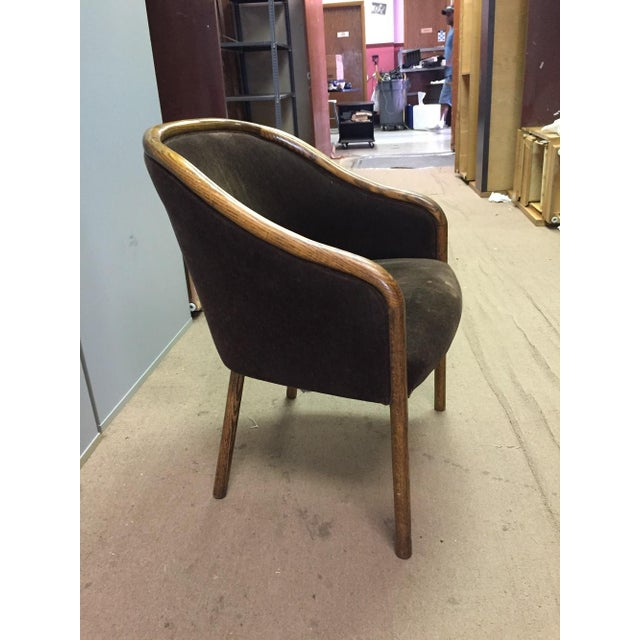 Mid-Century Modern Walnut & Mohair Dining Chairs - Set of 7 - Image 3 of 10