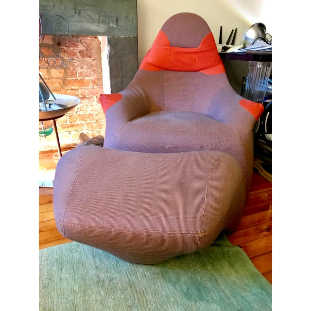 Marc Sadler for Moroso Lounge Chair & Ottoman - A Pair - Image 2 of 4