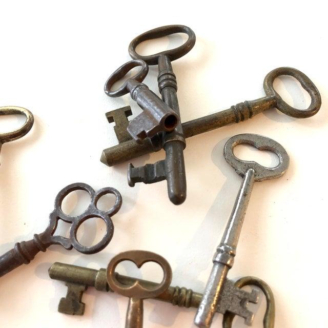 Rustic Set of 9 Antique & Vintage Skeleton and Door Keys For Sale - Image 3 of 13