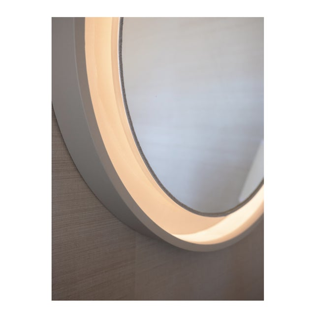 Art Deco French Art Deco Porthole Mirror With Light For Sale - Image 3 of 4