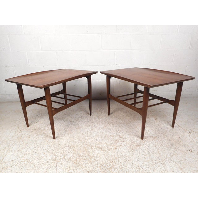 Surfboard Side Tables by Bassett Furniture Co., a Pair For Sale - Image 13 of 13