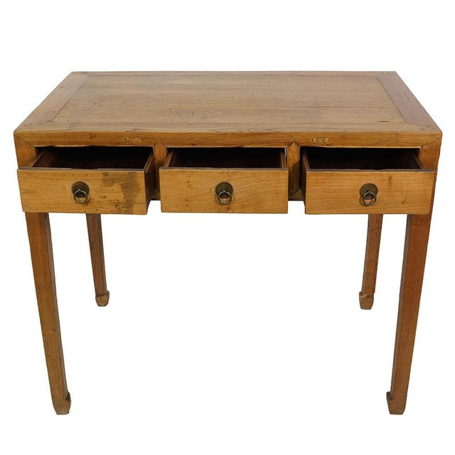 Asian 19th Century Chinese Antique Carved Secretary/Writing Desk For Sale - Image 3 of 6