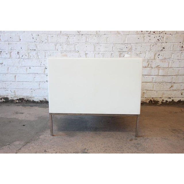 White Massimo Vignelli Style Plastic Cube Lounge Chairs, 1970s For Sale - Image 8 of 10
