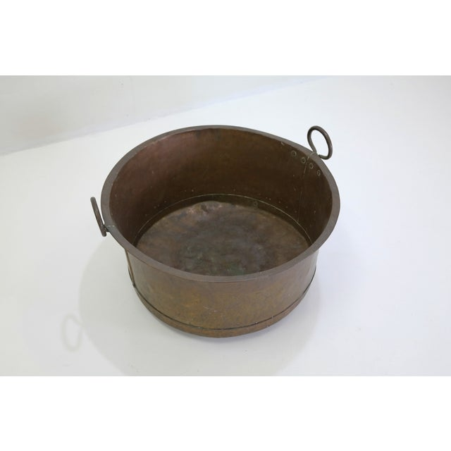 Danish Large Antique Copper Pot From 1960 - Image 3 of 7