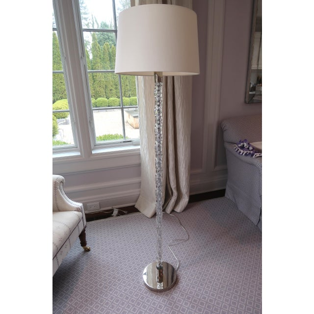 Mid-Century Modern Vaughan Twisted Glass Floor Lamp For Sale - Image 3 of 12