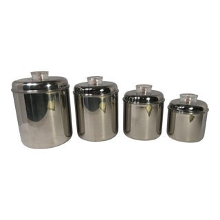 Revere Ware Stainless Steel Canisters - Set of 4