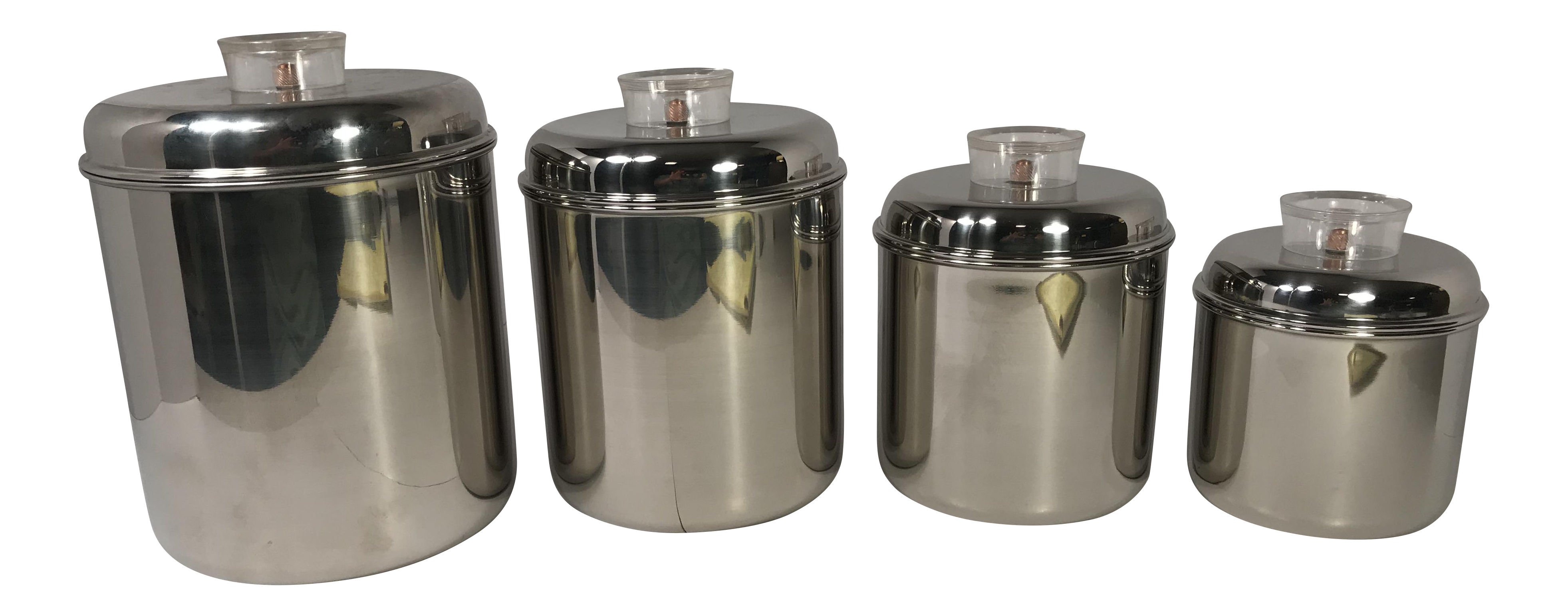 Revere Ware Stainless Steel Canisters   Set Of 4