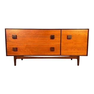 Vintage British Mid Century Modern Teak Dresser Credenza by Ib Kofod Larsen for G Plan For Sale