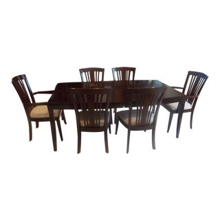 Stickley Boat Shape Dining Table and Bayonne Chairs For Sale