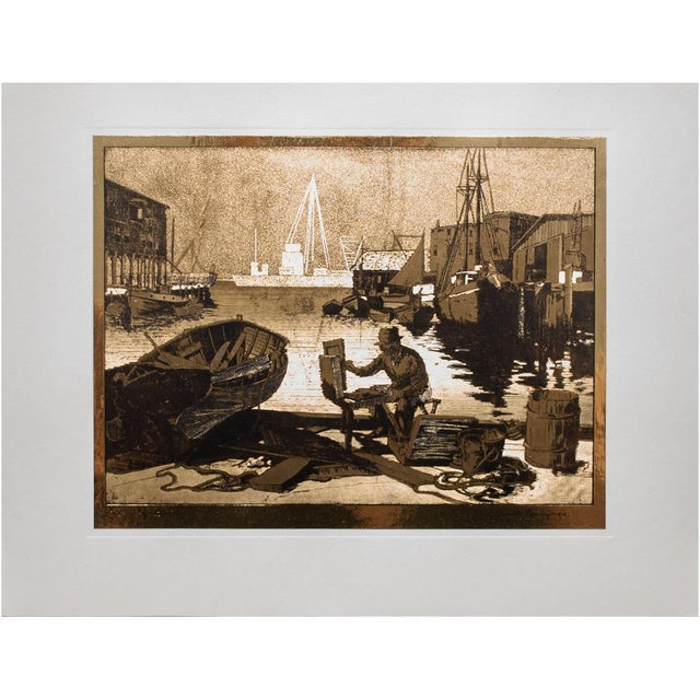 Etching American Classical Gold-Etch Prints, Set of 4 For Sale - Image 7 of 13