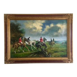 Loudon County Piedmont Fox Hunt Oil Painting