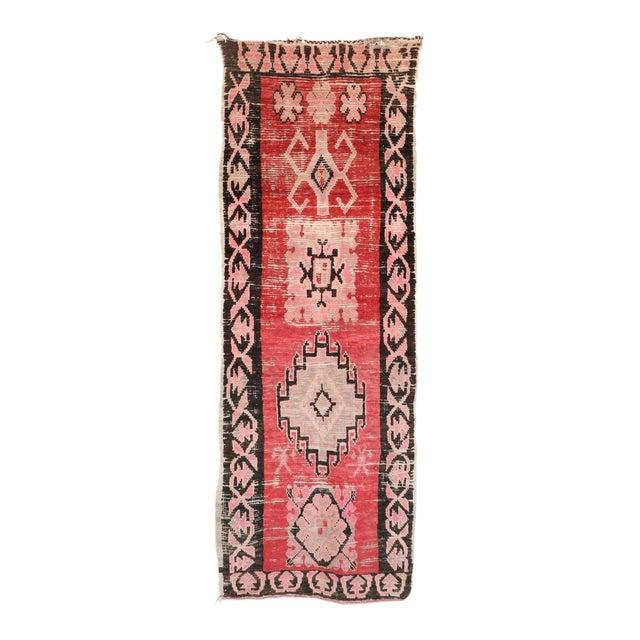 "Boujad Vintage Moroccan Rug - 3'4"" x 9'8"" - Image 1 of 3"