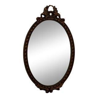 1940s Italian Gilt Wood Wall Dresser Mirror For Sale