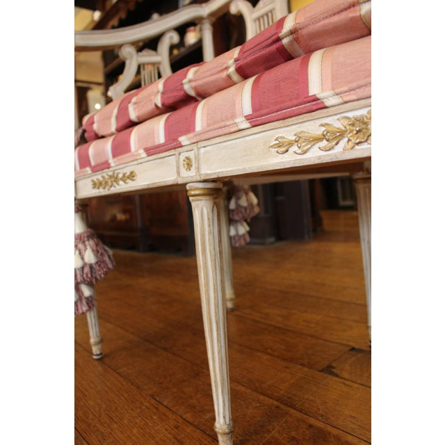 Wood 1900s Triple Lyre Back Settee For Sale - Image 7 of 8