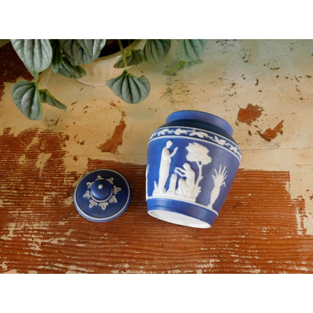 1970s Grecian Lidded Jar For Sale - Image 5 of 7