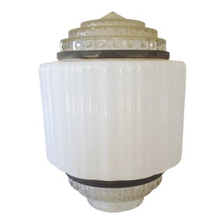 Art Deco Flush Ceiling Light Shade For Sale