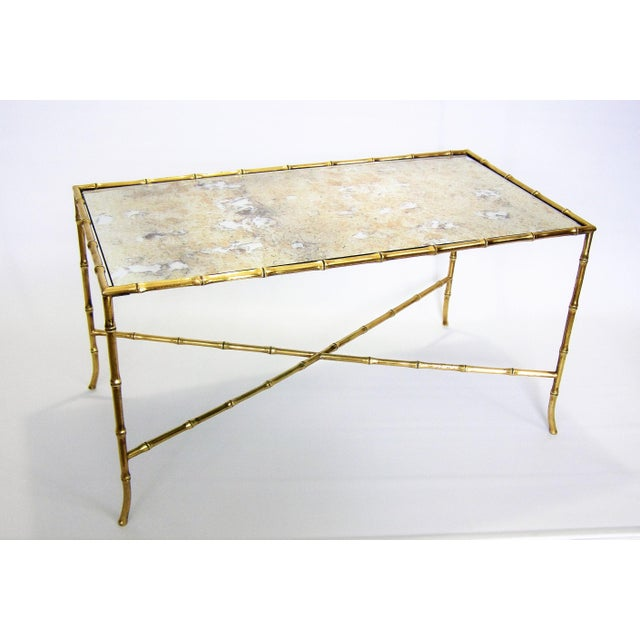 Maison Bagues French Brass Bamboo Coffee Table - Image 3 of 11