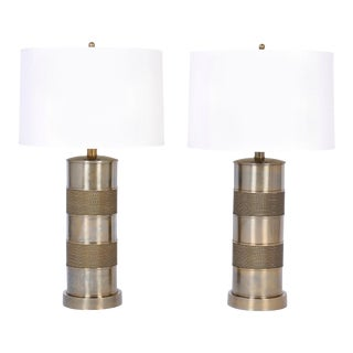 Brass Table Lamps with a Nautical Vibe - A Pair For Sale