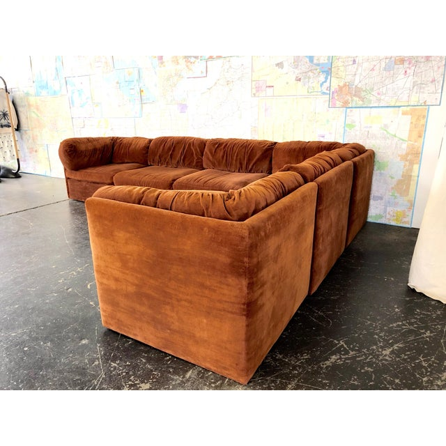 Eight Piece Modular Sofa by Milo Baughman for Thayer Coggin For Sale - Image 9 of 13