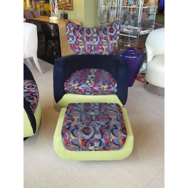 Green 1970s Modern Vladimir Kagan Lounge Chairs and Ottoman - 3 Pieces For Sale - Image 8 of 10