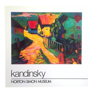 "Kandinsky Rare 1982 Lithograph Print Museum Poster "" Street in Murnau With Woman "" 1908 For Sale"