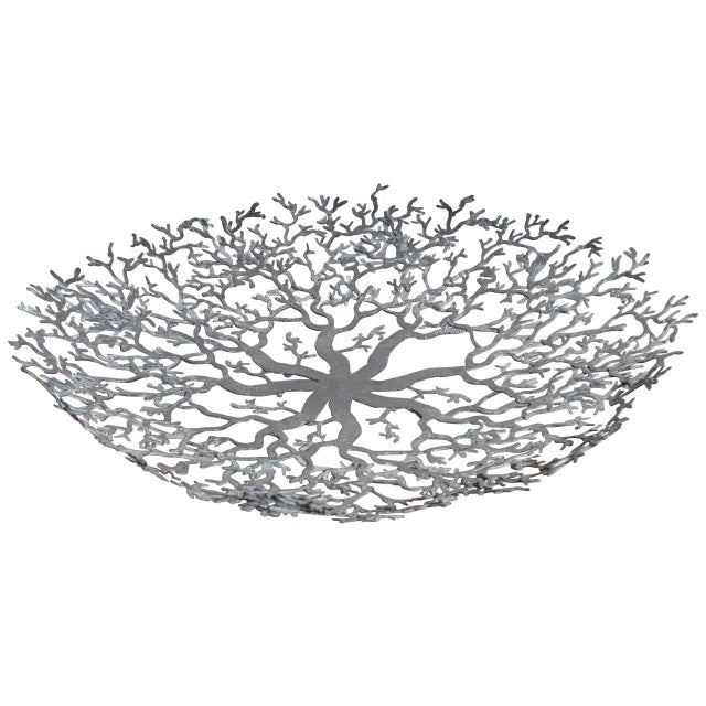 Hand-Forged Iron Coral Bowl - Image 1 of 6
