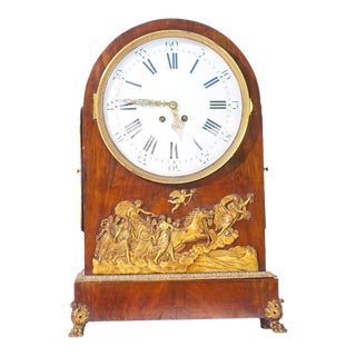 19th C. French Empire Bronze Mounted Large Clock For Sale