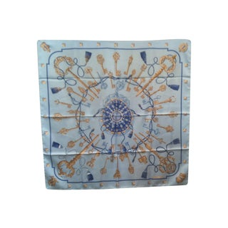 Blue & White Hermes Scarf