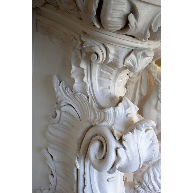 French Baroque Style Modern Mantel For Sale - Image 6 of 10