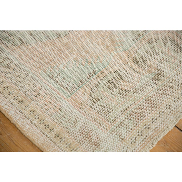 """Old New House Vintage Distressed Oushak Rug Runner - 2'7"""" X 4'11"""" For Sale - Image 4 of 8"""
