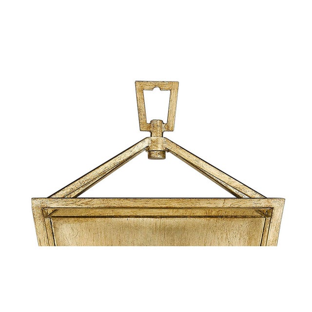 Ponce City 2 Light Sconce, Gilded Gold For Sale - Image 4 of 8