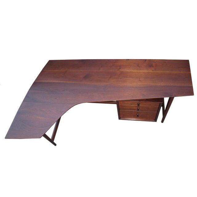 Richard Artschwager Studio Walnut Desk For Sale - Image 5 of 7