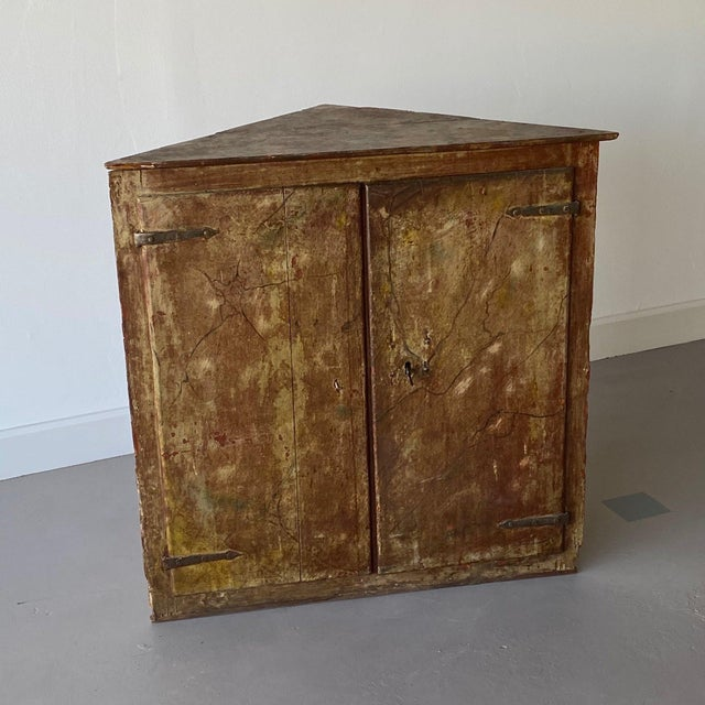 19th Century Painted Corner Cabinet For Sale - Image 10 of 10