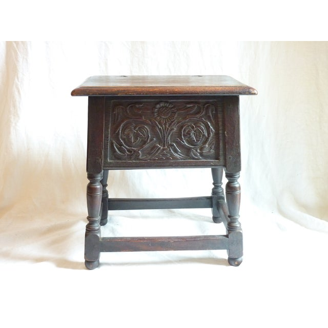 18th Century English Carved Oak Joint Stool - Image 2 of 6