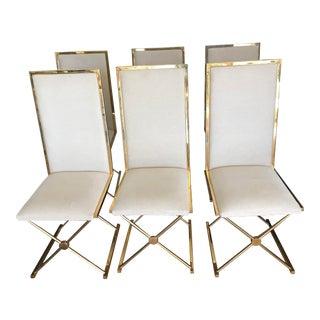 Turri Italian Brass Dining Chairs - Set of 6