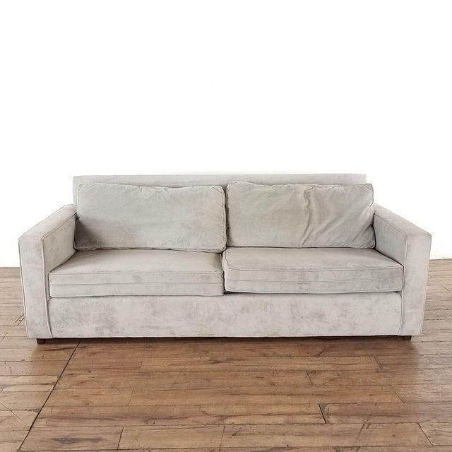Tan West Elm Henry Upholstered Sofa For Sale - Image 8 of 8