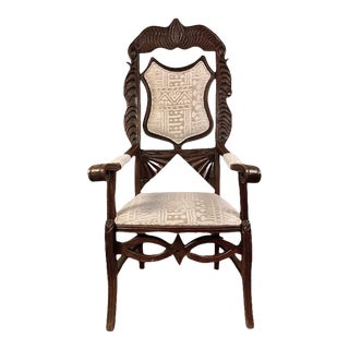 1800s Antique French Shield Back Chair For Sale