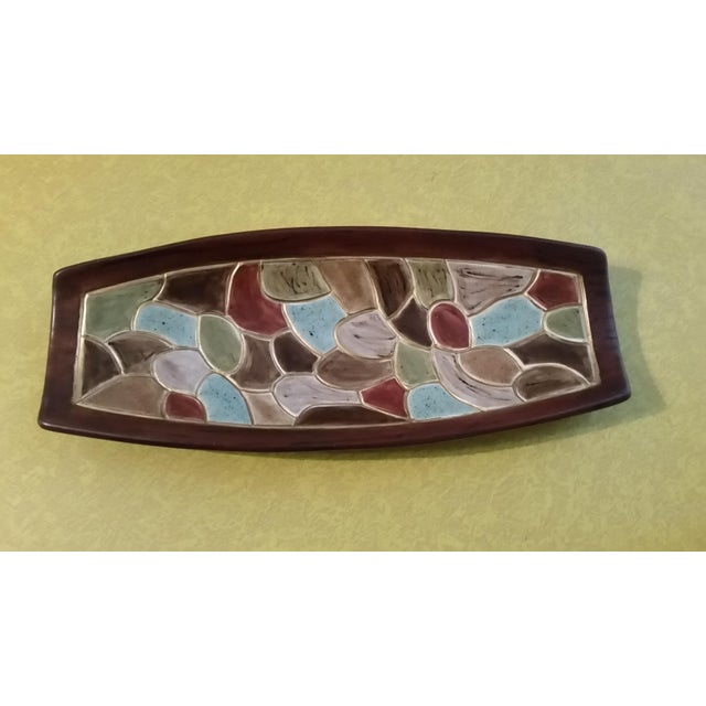 1968 Studio Pottery Footed Serving Dish - Image 7 of 7