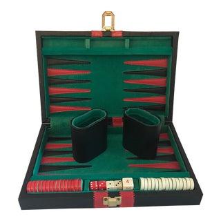 Vintage Travel Backgammon Set For Sale