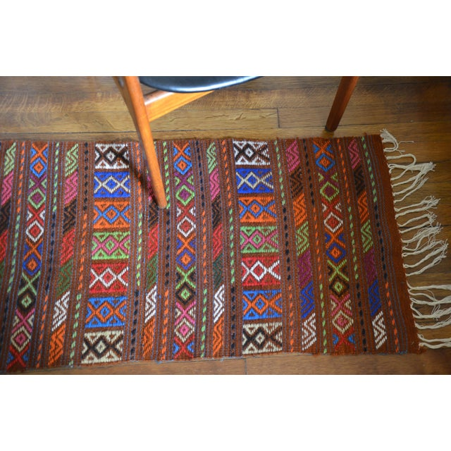 Peruvian Style Patterned Rug - 1′9″ × 4′3″ - Image 3 of 7